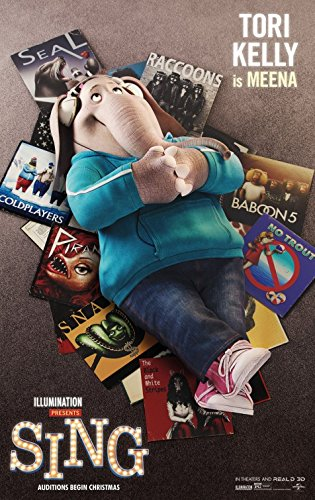 Sing 2016 Original Movie Poster - Dbl-Sided - Scarlett Johansson - Matthew McConaughey -