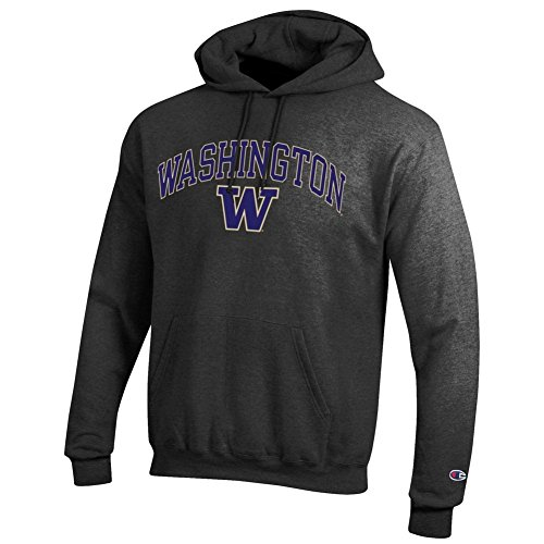 Elite Fan Shop Washington Huskies Hooded Sweatshirt Varsity Charcoal - L