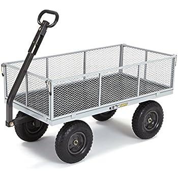 Harbor Freight Utility Cart >> Amazon Com Gorilla Carts Gor800 Com Steel Utility Cart With