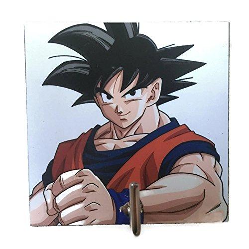 Agility Bathroom Wall Hanger Hat Bag Key Adhesive Wood Hook Vintage Super Saiyan Goku Dragon Ball's Photo (Ex Pub Furniture)