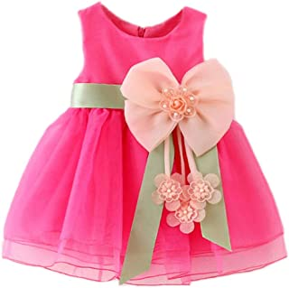 Huicai Baby Girl Dresses Bowknot Formal Clothing Party Bridesmaid Flower Girl