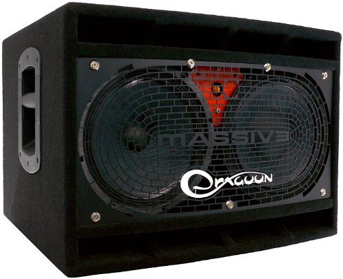 (DRAGOONDM4210 450W 4-16 Ohm Switchable Handcrafted High Performance 2x10 Inches Bass Speaker Cabinet)