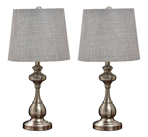 kings-brand-brushed-nickel-silver-shade-traditional-table-lamp-set-of-2-lamps
