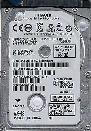 PCB Hitachi 320GB HTS723232A7A364 SATA 0A79646 Laptop DA3735 HardDrive DA4724/_