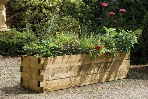 Jardinera de cultivo, diseño caledonia, 45 x 180 cm: Amazon.es ...