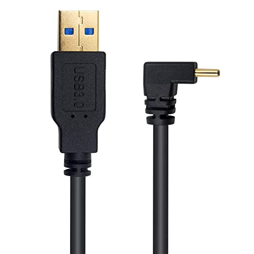 Occus Up /& Down /& Left /& Right Angled 90 Degree USB Micro USB Male to USB Male Data Charge Connector Cable 25cm 50cm for Tablet 5ft 1m Cable Length: 100cm, Color: Right