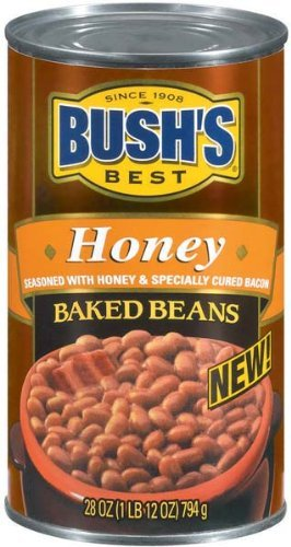 Bush's Best, Honey Baked Beans, 28oz Can (Pack of 4)