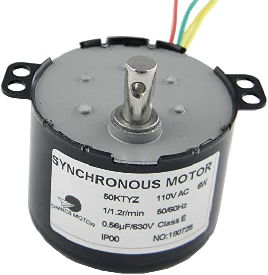 Low Speed Synchronous Motor TYC50 Permanent Magnet Motor AC110V 0.8-1RPM CW//CCW