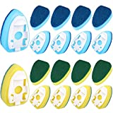 18 Pieces Dish Wand Replacement Sponge Heads Refill Sponge Pads Brush Sponge Refills for Kitchen Room Floor Glasses Cleaning Supplies