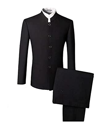 Image Unavailable. Image not available for. Color  Mens Suit Chinese  Traditional Uniform Chinese Tunic Suit 2 Piece 4dd5b998b