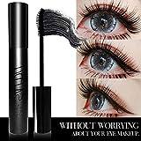 Mesaidu Mascara 3D Fiber Lashes, Best Black Lash Fibers with Waterproof & Hypoallergenic Ingredients