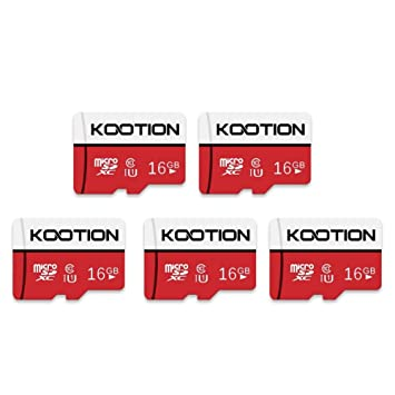 KOOTION Micro SD 16GB Clase 10 Tarjeta de Memoria Micro SDHC (U1 y A1) Tarjeta MicroSD TF Card Alta Velocidad de Lectura hasta 100 MB/s, para ...