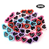 20Pcs/Set Pet Dog Hair Bows Hair Clips Cute Heart Shape Sunglasses Hairpin Pet Headdress Dog Hair Grooming Accessories