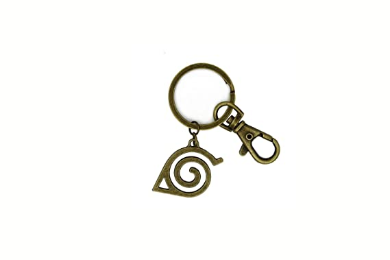 Naruto Keychain Hidden Leaf Village Symbol Anime Keyring Manga