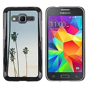 Exotic-Star ( Trees Sky Summer Beach Tropics ) Fundas Cover Cubre Hard Case Cover para Samsung Galaxy Core Prime / SM-G360