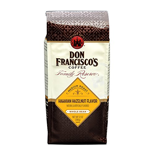 Don Francisco's Coffee, Hawaiian Hazelnut Whole Bean, Flavored, 12-Ounce