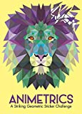 Animetrics: A Striking Geometric Sticker Challenge (Sticker by Number Geometric Puzzles)
