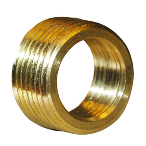 LASCO 17-9233 1/2-Inch Male Pipe Thread by 3/8-Inch Female Pipe Thread Brass Face (Pipe Face Bushing)