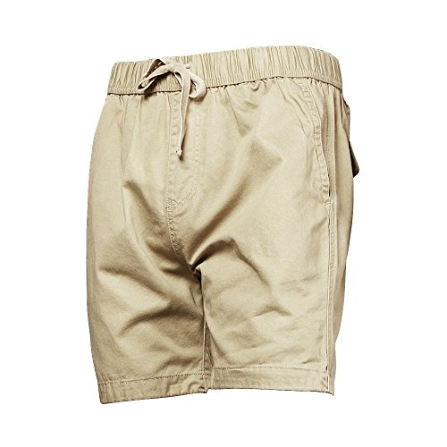 A Pagom Mens Loose Fit Drawstring Short Inseam Twill Shorts