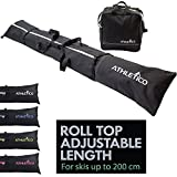 Athletico Two-Piece Ski and Boot Bag Combo | Store & Transport Skis Up to 200 cm and Boots Up to Size 13 | Includes 1 Ski Bag & 1 Ski Boot Bag (