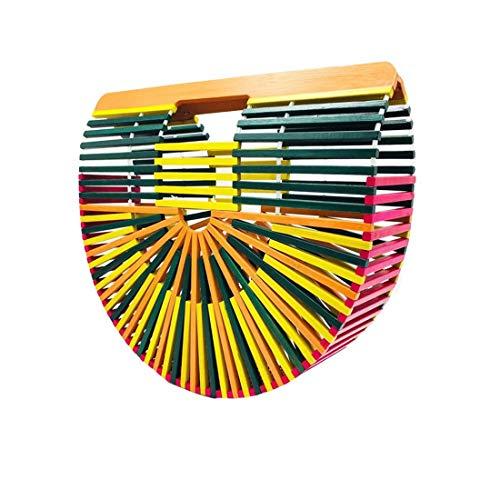 De La Tout Hungrybubble Filles Colorful À À pour Et Sac Main De Plage Sac Colorful Fourre Main Paille Bambou Color Purse Femmes Embrayage Sac Bambou wzrqzgZX