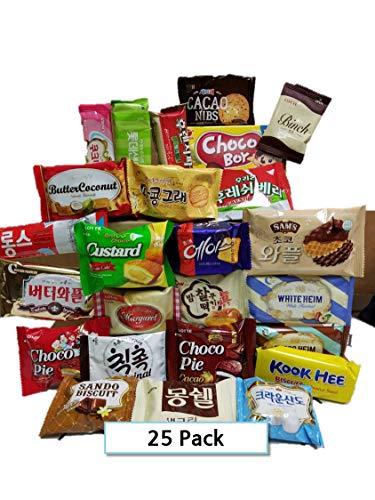 KOREAN PREMIUM SNACK BOX_Assorted Package Popular Deluxe Korean Brand Snacks and More! Perfect for GIFT | College Care Package | Gift Care Package (25 packs)