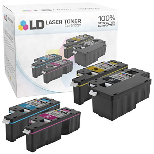 LD Compatible Toner Cartridge Replacement for Dell E525w (Black, Cyan, Magenta, Yellow, -