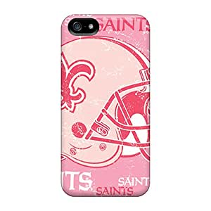 Protective Hard Phone Cover For Iphone 5/5s With Custom High Resolution New Orleans Saints Skin LisaSwinburnson
