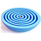 LIZCT Balance Labyrinth Maze Ball - Hemisphere Brain Teaser Puzzle Maze Intelligent Board Game Toys Adults Children (Blue)