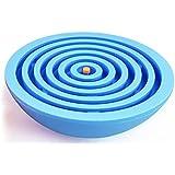 Lizct BTLB-01-Blue Balance Labyrinth Maze Ball - Hemisphere Brain Teaser Puzzle Maze Intelligent Board Game Toys for Adults and Children, Blue