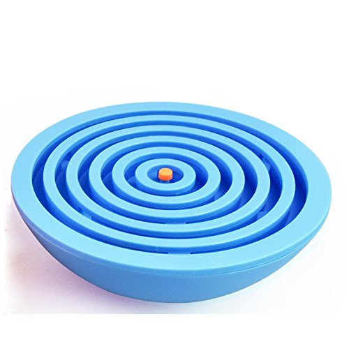 Lizct BTLB-01-Blue Balance Labyrinth Maze Ball - Hemisphere Brain Teaser Puzzle Maze Intelligent Board Game Toys for Adults and Children, Blue