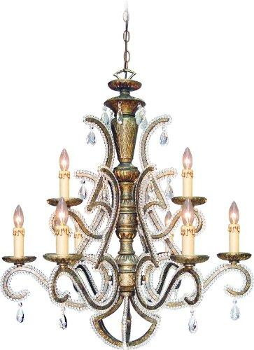 Volume Lighting V3979-58 Marseille 9 light moonlit nocturne chandelier