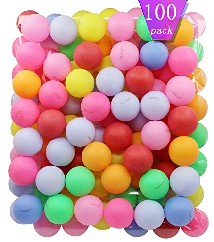 Find Cheap TADICK Beer Ping Pong Balls Plastic Multiple Color Table Tennis Ball (100 Pack)