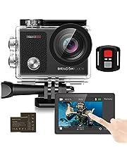 Dragon Touch Action Cam 4K /unterwasserkamera 16MP WiFi Sports Kamera wasserdicht Kamera 30M 170° Touch Bildschirm Weitwinkel Fernbedienung mit 2 Batterien Vision 3 Pro