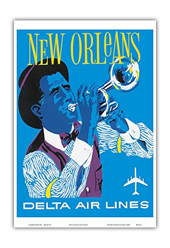 new-orleans-delta-air-lines-jazz-trumpet-player-vintage-airline-travel-poster-c1960-master-art-print