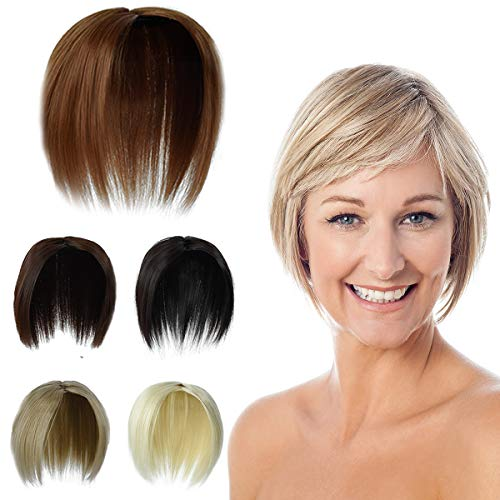 YAYAFAIRY Hair Toppers for Women with Thinning Hair Top Hairpiece Wig Crown Topper Hair clip in (Dark Brown)