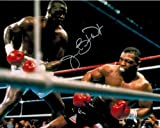 James Buster Douglas Signed Autographed Knocking Down Mike Tyson 8x10 Photo