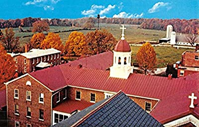 Nerinx Kentucky Loretto Motherhouse Birdseye View Vintage Postcard K52532