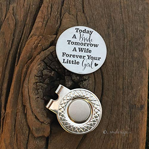 Forever Your Little Girl Golf Ball Marker - Golf Disc Gift For Dad Wedding Party Gift Idea for Dad Golf Ball Marker for the Bride