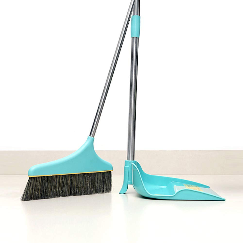 Upright Sweep Set, Material Home Casual Environmental Recycle Broom and Dustpan Set, Side Pour The Garbage for Kitchen Garden Home Office (Blue) by Biaky (Image #8)