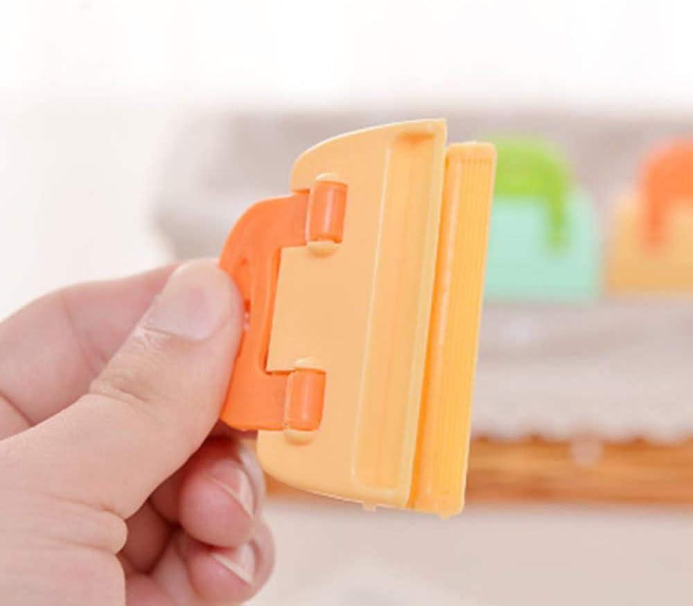 Verde, Naranja Cocina de Almacenamiento Etern 12PCS Clip Sellado Alimentos Clips de Cierre Multiprop/ósito de Pl/ástico ABS Se Puede Usar para Sellar Bolsas de Comida