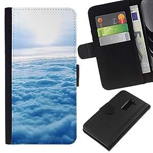 All Phone Most Case / Oferta Especial Cáscara Funda de cuero Monedero Cubierta de proteccion Caso / Wallet Case for LG G2 D800 // Nature Cloud Sunshine