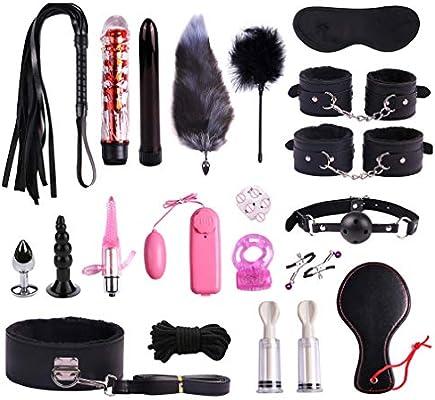 20 PCS Nylon Leather New Plush Set Toy Suit Kit Special Bundled Binding Set New Yoga Plush Leather Set Yoga Set SM Kit for Couple Adult Sexy Suit, ...