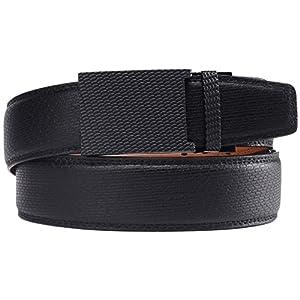 Bulliant Men Belt, Genuine Leather Ratchet Belt for Men, Trim to Fit