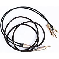 NEOMUSICIA Black Replacement upgrade Audio Cable Cord For V-MODA Crossfade M-100 V-MODA XS Headphone 1.2m/4FT