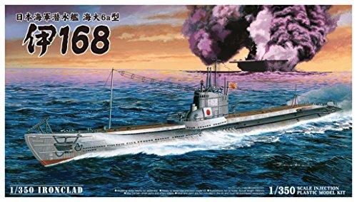 Aoshima Models IJN Submarine I-168 Model Kit (1/350 Scale)