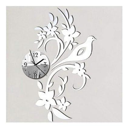 Alrens(TM Birds Branches Flowers DIY Wall Clocks Reloj De Pared Horloge Modern Design 3D