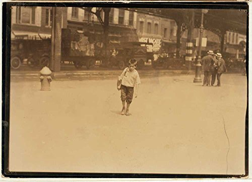 1924 Photo Jimmie, a seven year old bootblack, working on Canal Street, N.Y. City - July 25, 1924. Location: New York, New York (State) Location: New - Canal Shopping Map Street