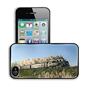 Trains Locomotives Clear Blue Sky Apple iPhone 4 / 4S Snap Cover Premium Aluminium Design Back Plate Case Customized Made to Order Support Ready 4 7/16 inch (112mm) x 2 3/8 inch (60mm) x 7/16 inch (11mm) MSD iPhone_4 4S Professional Metal Cases Touch Acce