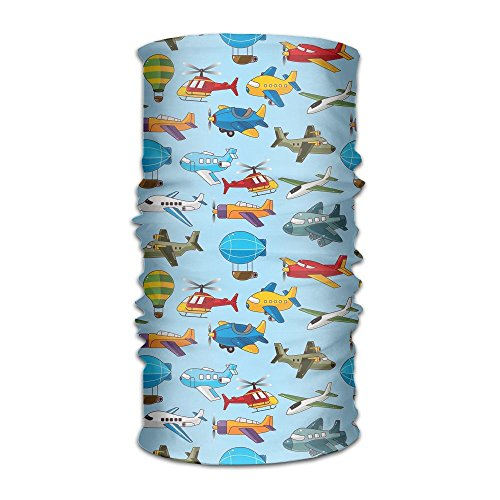 Owen Pullman Multifunctional Headwear Airship Plane Texture Head Wrap Elastic Turban Sport Headband Outdoor -